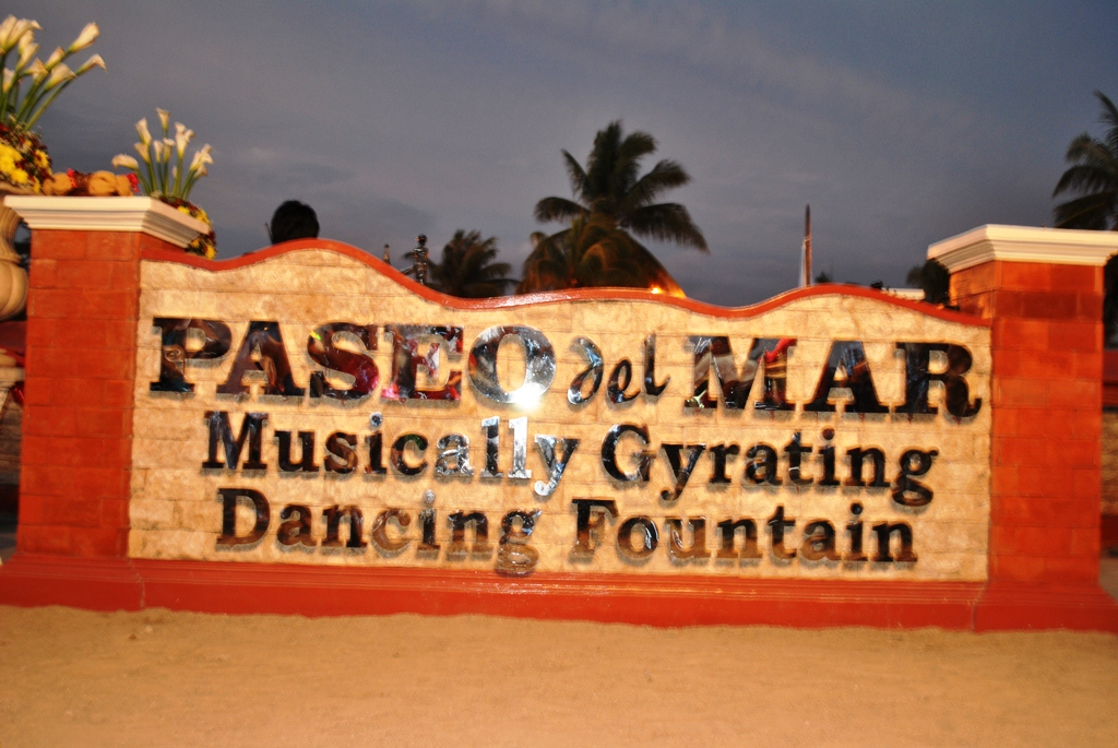 Nightfall At Paseo Del Mar And The Musical Fountain The