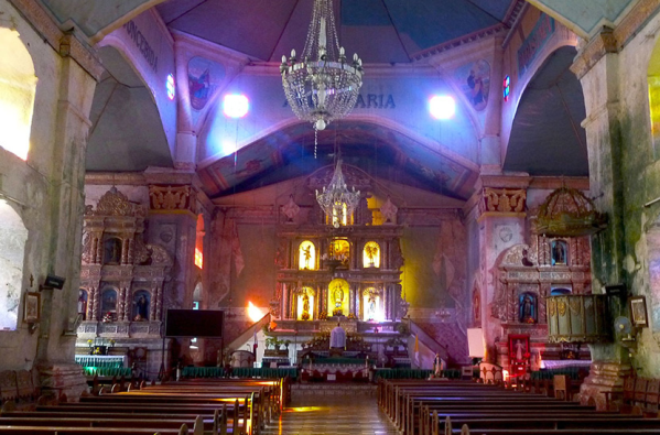 Inside Baclayon Church