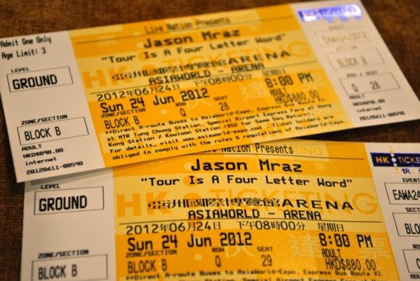 Jason Mraz Hong Kong Tickets