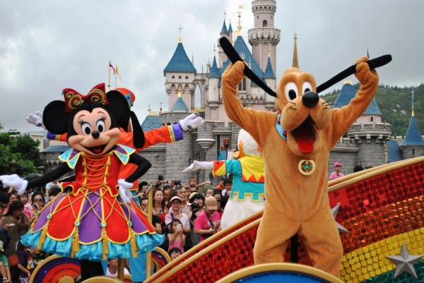 Minnie Mouse and Goofy