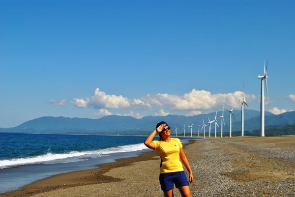 Looking in Amazement at the Beautiful Eco Friendly Bangui WIndmills
