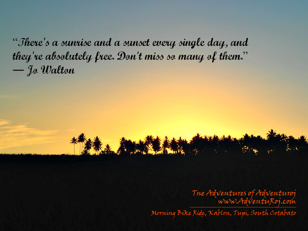 Quotes About Sunrise Enchanting Quotations & Photography A Bike Ride Into The Sunrise  The .