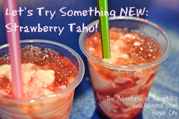 strawberry taho