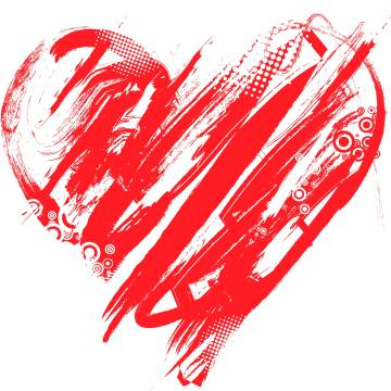 valentines day paint heart wallpapers