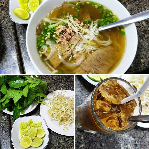 Pho and Caphe Sue Da (Iced Coffee)