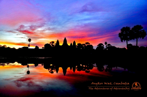 Magnificent Angkor Wat at Sunrise